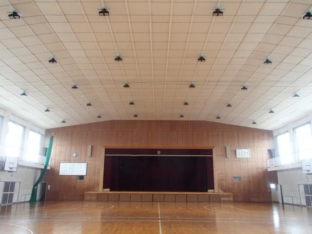 体育館施工済み天井